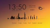 Simple Clean Rainmeter skin