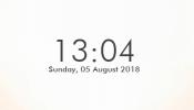 Simplistic Clock Rainmeter skin