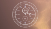 The Minute Clock Rainmeter skin