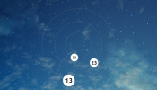 Orbital Clock Rainmeter skin