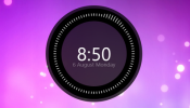Huawei Like Clock Rainmeter skin
