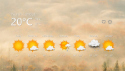 7 Days Weather Rainmeter skin