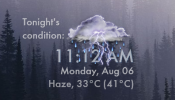 Weather Time and Date Rainmeter skin