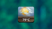 Jaku Weather Rainmeter skin
