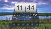 MIUI Weather Rainmeter skin