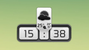 Weather and Clock Panel Rainmeter skin