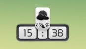 Weather and Clock Panel Rainmeter skin