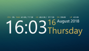 Simple Time 2 Rainmeter skin