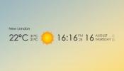 Date Time Weather Rainmeter skin