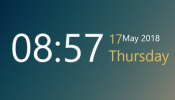 Simple Time Rainmeter skin