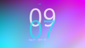 Accent Clock Rainmeter skin
