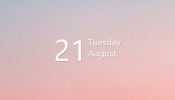 Simple Calendar V1 Rainmeter skin