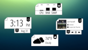 Bookmarked Rainmeter skin