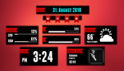 Falling Night Rainmeter skin