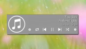 Stylish Music Player Rainmeter skin