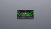 Cyber Clock Rainmeter skin