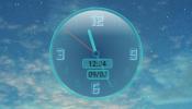 Reverse Shape Clock Rainmeter skin