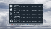 MLB Standings Rainmeter skin