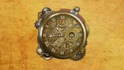 Steampunk Watch Rainmeter skin