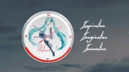 Anime Music Clock Skin