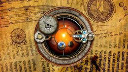 Steampunk Orrery and Clock Skin