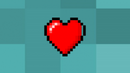 Heart Pixel Battery Skin