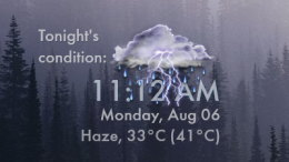 Weather Time and Date Skin