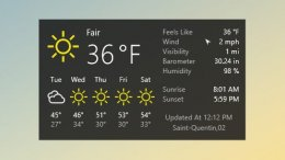 Win10 Weather Multilingual Skin