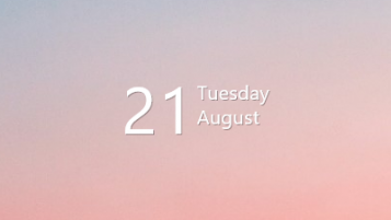 Time And Date Calendar.215 Rainmeter Time And Date Skins Windows 10 8 7