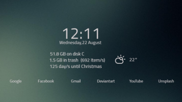 88+ Rainmeter Minimalist Themes and Skins [Windows 10/8/7]