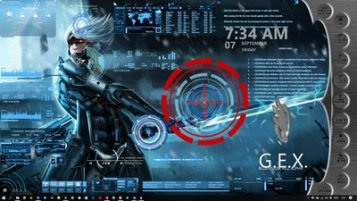 Metal Gear Rising Animated Desktop Skin