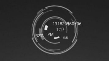 322+ Rainmeter Clock Skins [Windows 10/8/7]