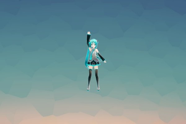 Dancing Vocaloid Rainmeter Skin #1