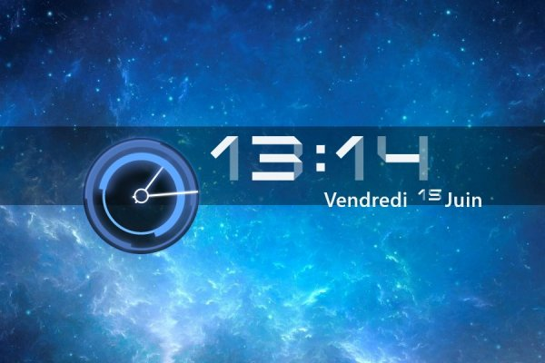 HoneyComb Clock Rainmeter Skin #2