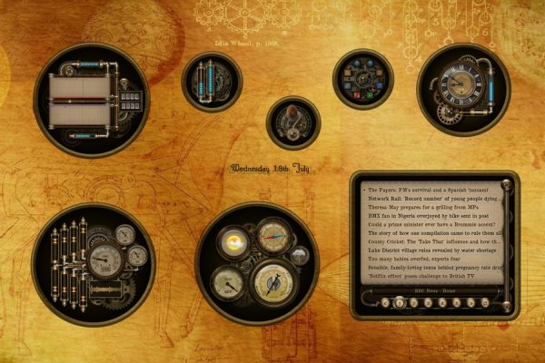 Steampunk Cogs, Tubes and Gauges Rainmeter Skin #2