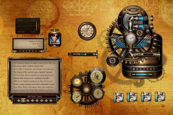BB'B Steampunk Rainmeter Skin #1