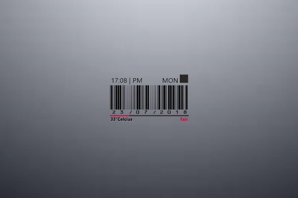 BarCode Time Rainmeter Skin #2