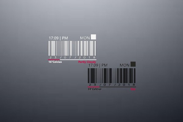 BarCode Time Rainmeter Skin #3