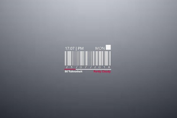 BarCode Time Rainmeter Skin #1
