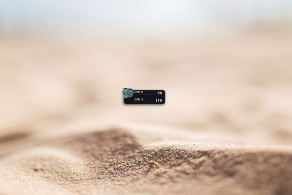 CPU Dock Plus Rainmeter Skin #1