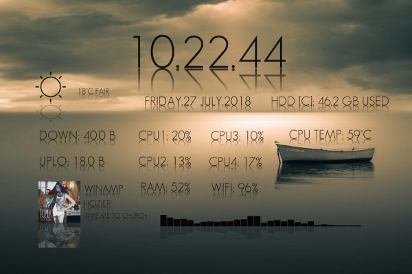 Elegant Reflections Rainmeter Skin #2