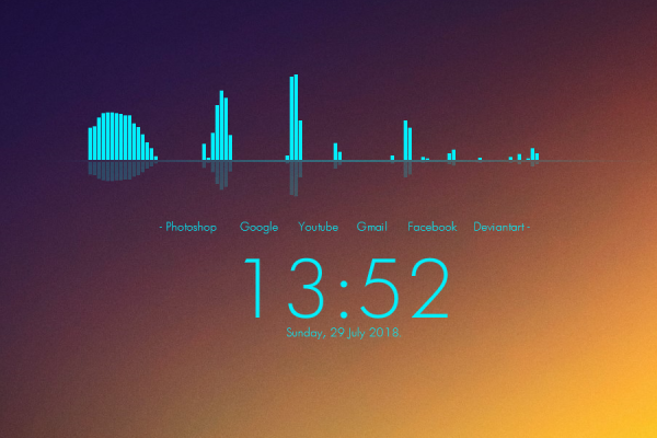 Simple Clean Rainmeter Skin #3