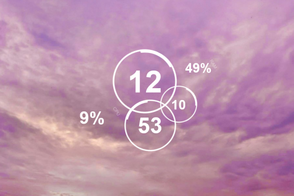 Circle Clock Rainmeter Skin #2