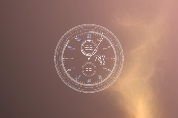 The Minute Clock Rainmeter Skin #1