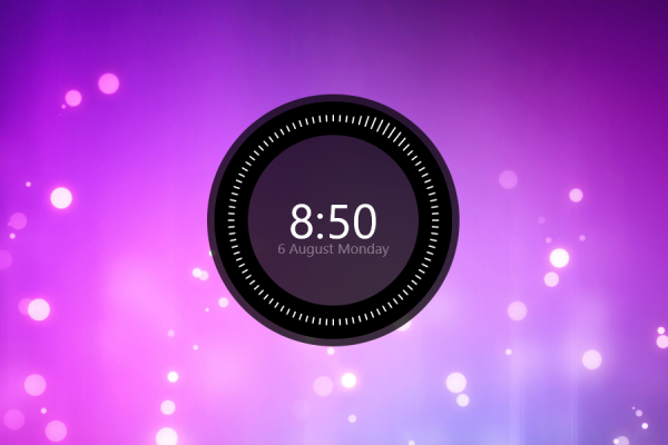 Huawei Like Clock Rainmeter Skin #1