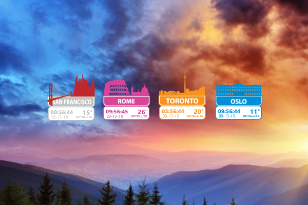 World Cities Rainmeter Skin #3