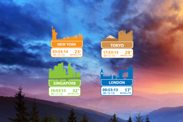 World Cities Rainmeter Skin #1