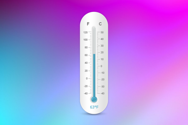 Thermometer Rainmeter Skin #2