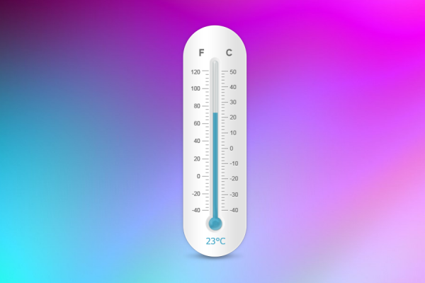 Thermometer Rainmeter Skin #1