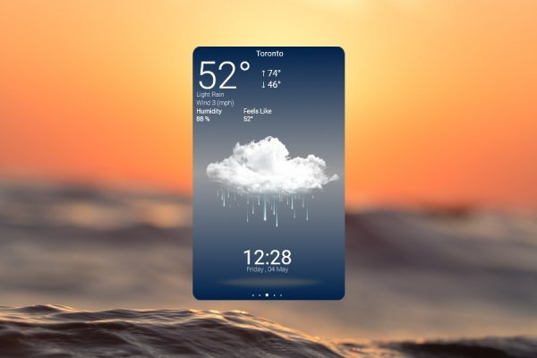 Beautiful Weather App Rainmeter Skin #2